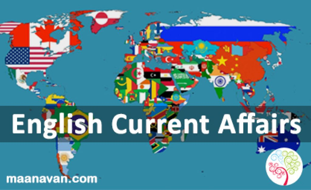 English Current Affairs 14 & 20 Jan 2018