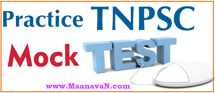 TNPSC CCSE 4 Exam Tamil Mock Test