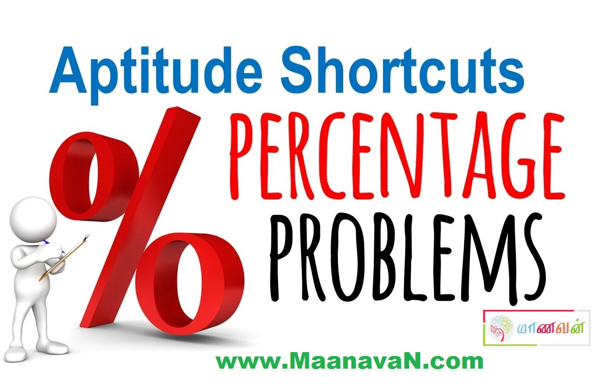 TNPSC Percentage Problems Shortcut And Tricks In Tamil