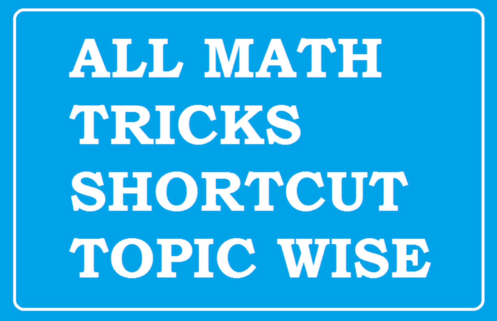 TNPSC Group 2A Maths Tricks Videos - TNPSC Group 2A Maths Videos