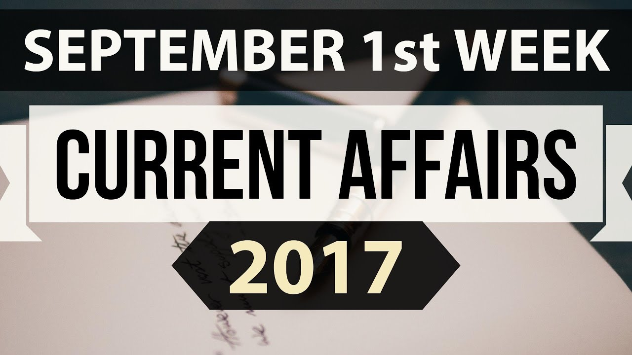 September Month Top 25 Current Affairs