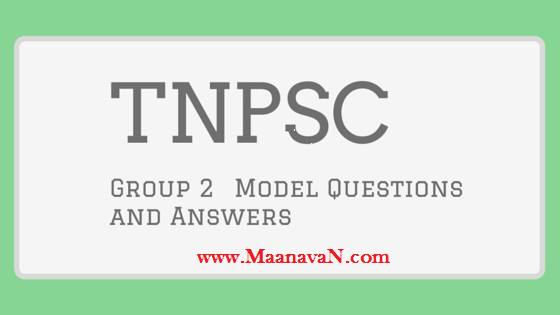 TNPSC Group 2 Exam Model Question Paper PDF Download