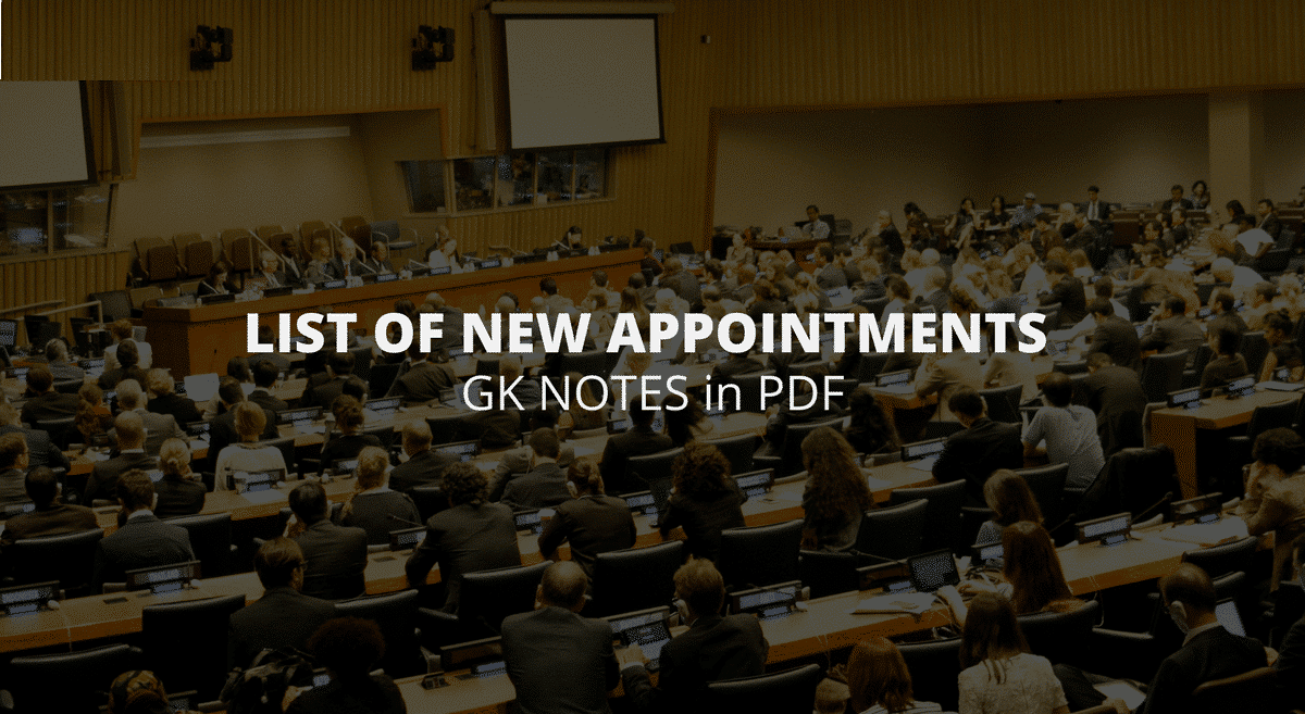List of New Appointments in the World