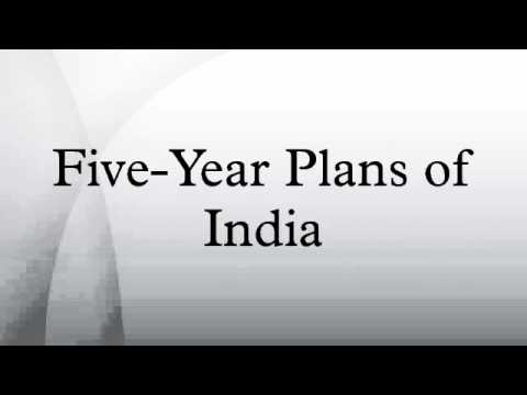 List of All Five Year Plans of India