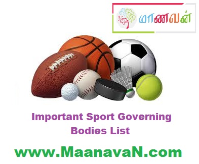 Photo of Important Sport Governing Bodies List