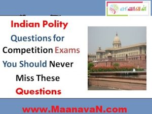 Indian Polity Questions