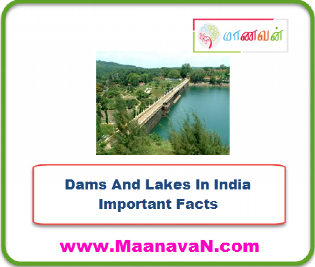 Dams And Lakes In India