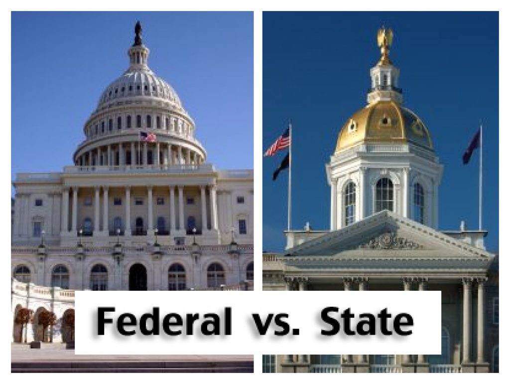 federal vs state The fair labor standards act sets federal minimum wage standards, while state governments set state minimum wages while some states have higher minimum wage standards than federal law, others have the same rate or none at all the us department of labor administers the flsa as of time of.
