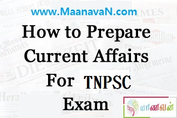 How to Prepare Current Affairs for TNPSC Exam