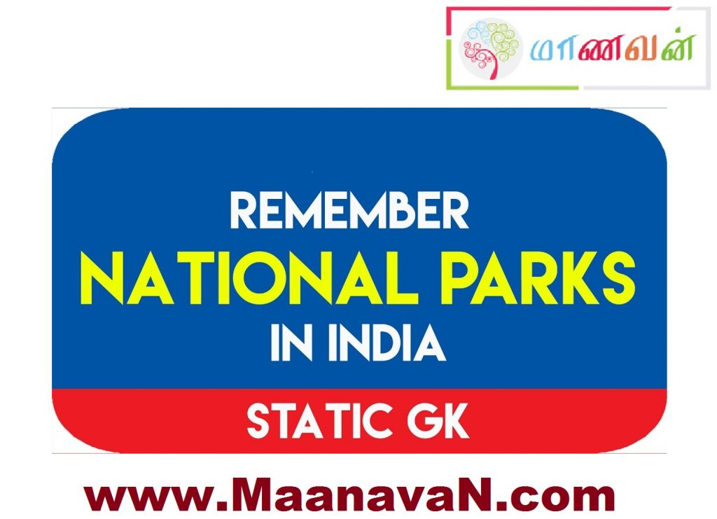 Remember National Parks in India