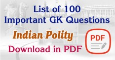 Expected Questions in Polity For TNPSC CCSE IV Exams