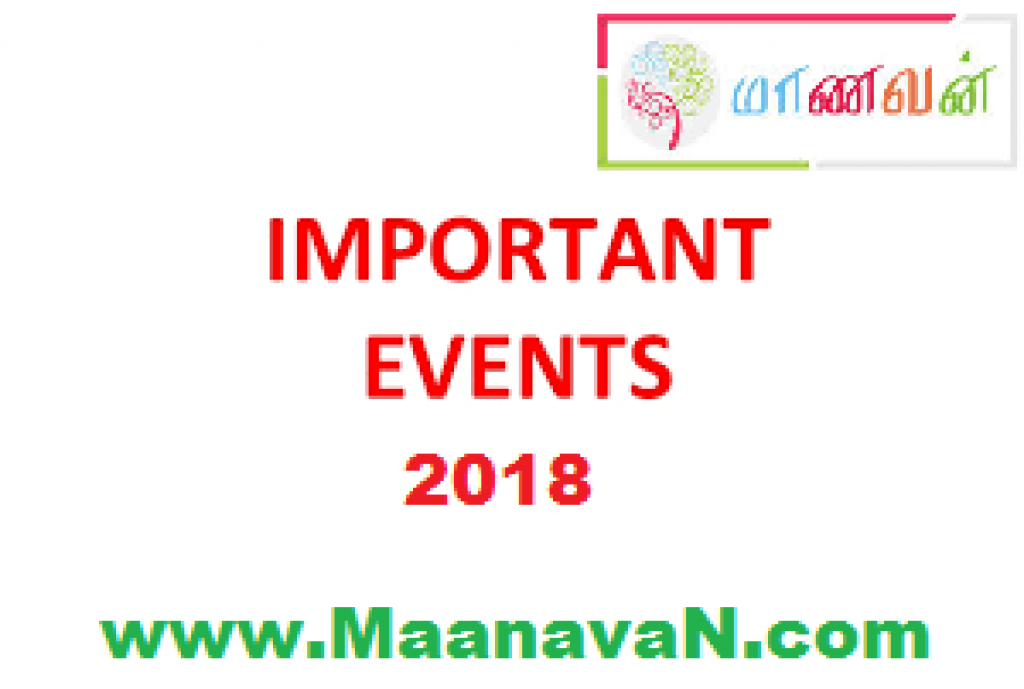Complete List Of Important Events In 2018