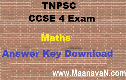 CCSE 4 Exam Maths Answer Key With Explanation