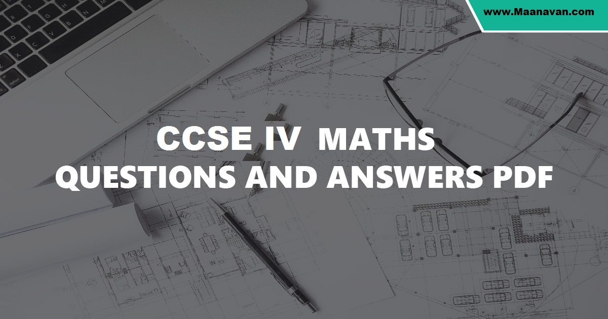 CCSE 4 Exam Maths Question and Answer