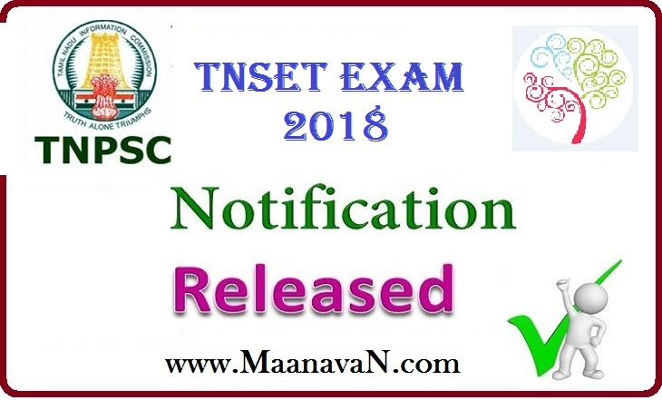 TNSET Exam Revised Notification