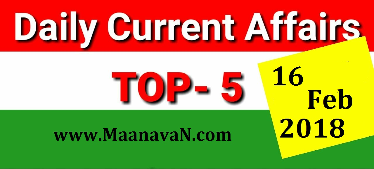 Top Five Current Affairs