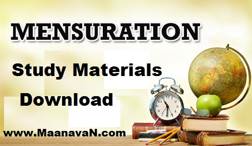 Mensuration Study Materials