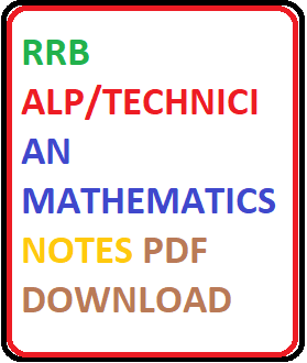 RRB ALP Exam Maths Materials
