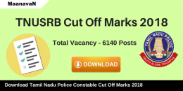 TNUSRB TN Police Exam Cut Off Marks