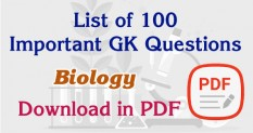 RRB Exam Biology Question and Answer