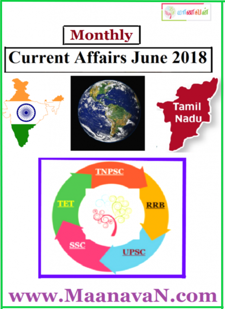 Monthly Current Affairs June 2018 In English Free Download
