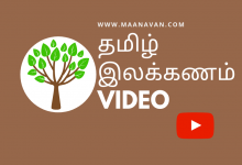 Photo of Ani Tamil Ilakkanam Video Format