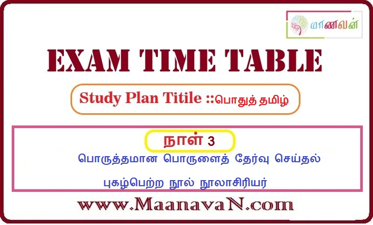 Photo of TNPSC Group 2A And RRB Exam Study Plan Day 3 PDF