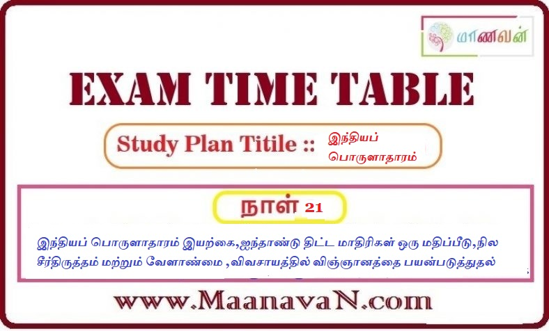 Photo of TNPSC Group 2A And RRB Exam Study Plan Day 21