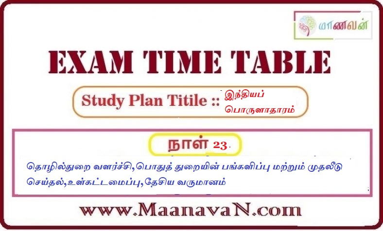 Photo of TNPSC Group 2A And RRB Exam Study Plan Day 23
