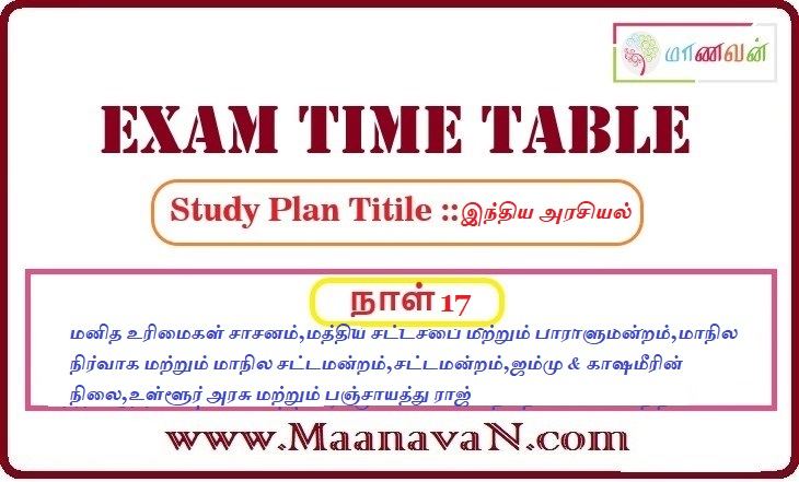 Photo of TNPSC Group 2A And RRB Exam Study Plan Day 17