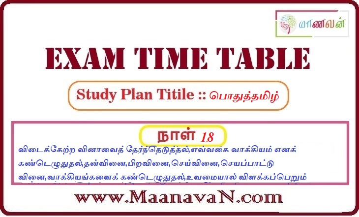 Photo of TNPSC Group 2A And RRB Exam Study Plan Day 18
