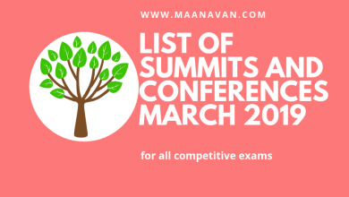 Photo of List Of Summits And Conferences March 2019 | Bank Study Materials