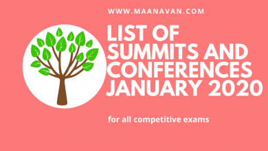 Photo of List Of Summits And Conferences January 2020 | Bank Study Materials